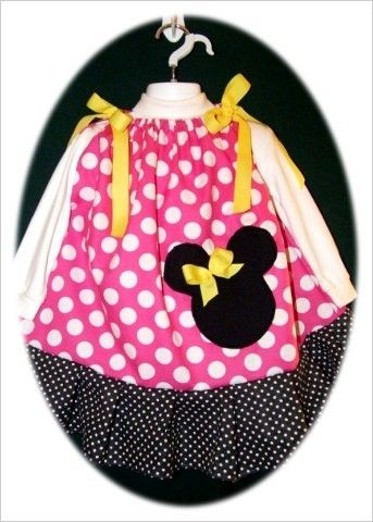 MInnie Mouse Couture 3T Custom Boutique & Minnie Mouse Hair Bow NEW & Adorable ♥ -Trip to Disney idea! for sale now on ebay. $7.00 for both!! SEARCH EBAY FOR ITEM NUMBER  200881493273