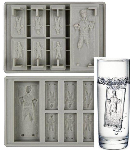 Han Solo Frozen in Carbonite Ice Tray...now that's nerd cool...