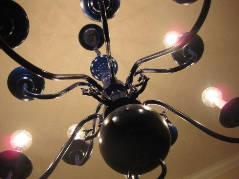 Diy Spray Paint Your Chandelier Home Sweet Home
