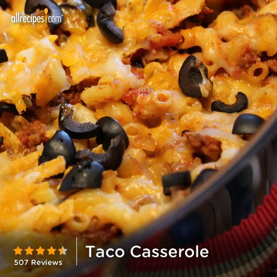 Taco casserole we loved this recipe in my house it was for Things you can make with ground beef