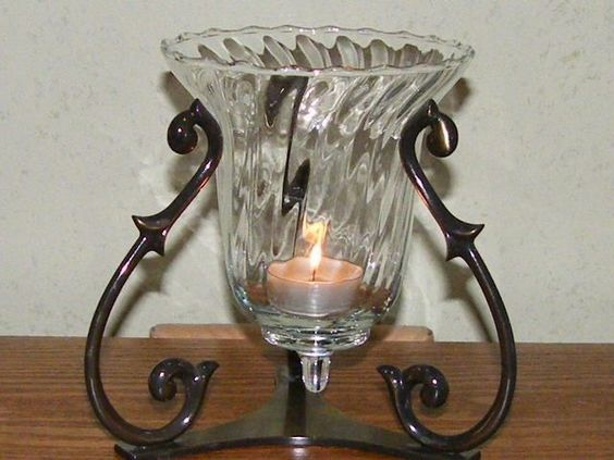 Partylite soliloquy retired candle holder excellent used for Used candle holders