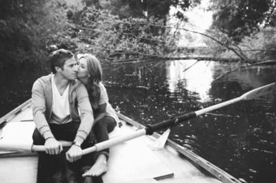 couple on row boat