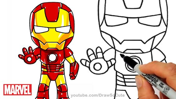 how to draw chibi superheroes