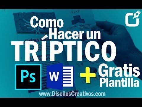 Como Hacer Un Triptico En Word Y Photoshop Que Es Un Tríptico Como Hacer Un Triptico Tripticos Online Trípticos Barato Excel Tutorials Word Online Y Words