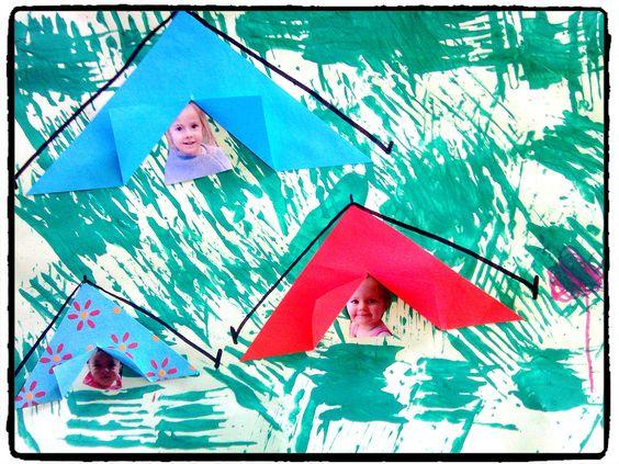 une peinture la fourchette pour l 39 herbe des photos des enfants pour cacher derri re des. Black Bedroom Furniture Sets. Home Design Ideas