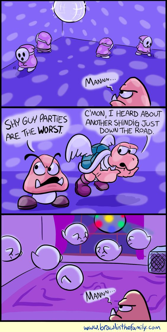 At least it's better than Thwomp parties.