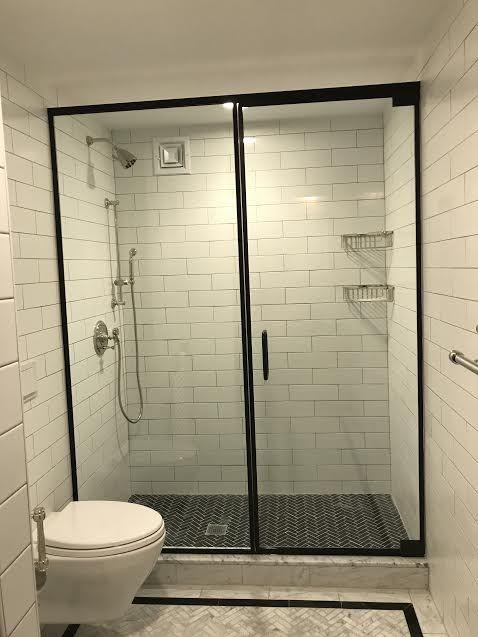 Matte Black Frameless Shower Door