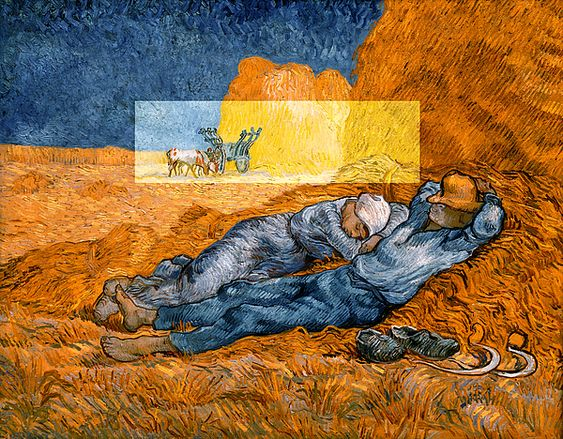 Sale 10 - 25% OFF Use promo code RYCUBL Good on all Prints See details...,vincent van gogh,van gogh,bridburg,colors,colours,rest,noon rest from work,sleeping couple,a couple at rest,a hard day of work,a hard day's work,mid afternoon in the field,mid afternoon's rest,a sleeping couple,a lazy day,work long forgotten,farmers taking a snooze,taking a snooze,taking a break,getting a break from work,in need of rest,a couple in need of rest,together at rest,man and wife,gift,christmas