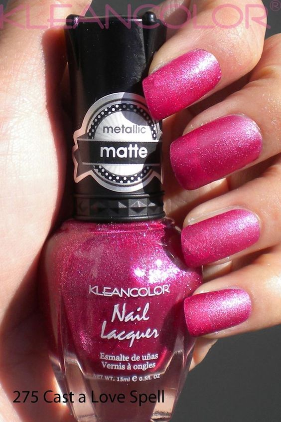 i own this. more of a deep bright berry pink than the hot pink shown. 275 cast a love spell