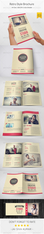 Retro Style Brochure Template – Retro Brochure Template