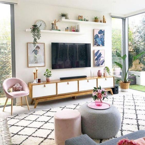 飾り棚 インテリア おしゃれ フォーカルポイント テレビ 壁掛け イメージ