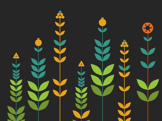 Vector Simple Flowers