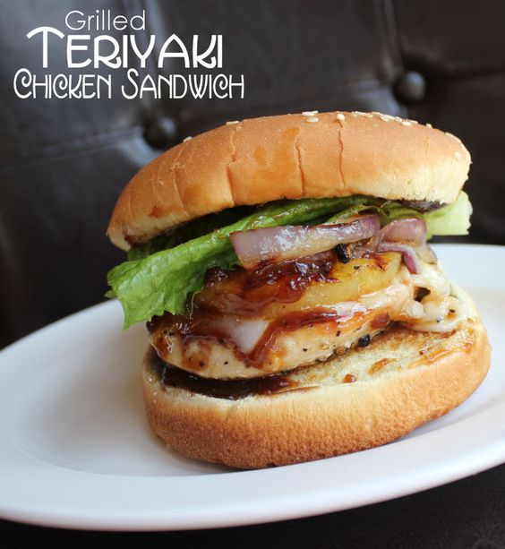 Grilled Teriyaki Chicken Sandwich from @jamiecooksitup