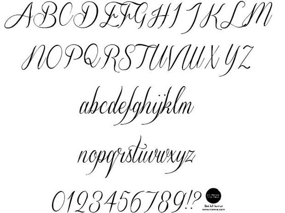 Cute Cursive Fonts Alphabet Google Search Font