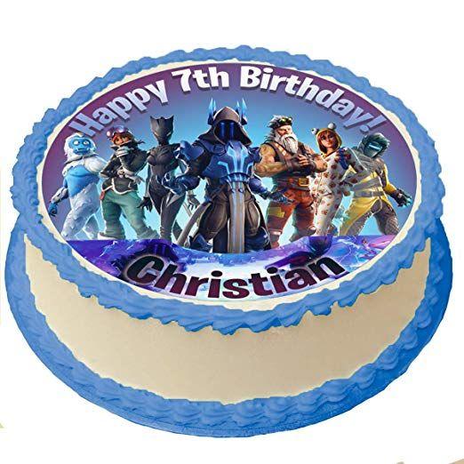 Fortnite Edible Image Fortnite Cake topper Fortnite Season 8 Cake Topper