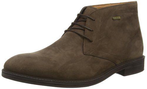 Clarks Chilver Hi GTX - botas de cuero hombre, color marrón, talla 41.5