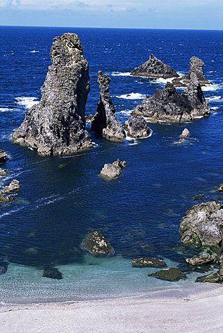 Needles, Port Coton, Belle Ile en Mer, Brittany, France, Europe