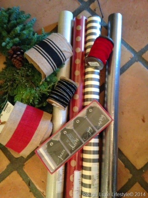 Rough Luxe Lifestyle Christmas Gift Wrap, Black White and Red & A Giveaway!