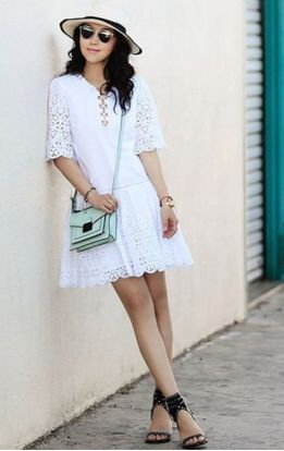 Cute crochet lace dress