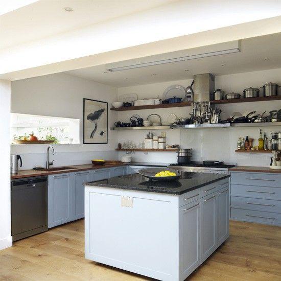 Küchen Küchenideen Küchengeräte Wohnideen Möbel Dekoration Decoration Living Idea Interiors home kitchen - Cool blue Küche