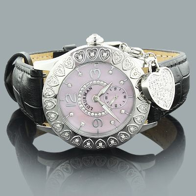 Luxurman Heart Watches: Pink Ladies Diamond Watch 0.24ct, View casual-watches, Luxurman Product Details from LUCCELLO INC. on Alibaba.com