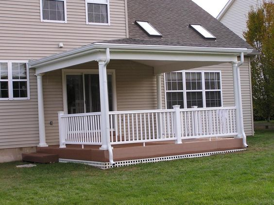 Roof Design Ideas: The Porch Roof Could Have Relatively Low Pitch. **** Porch
