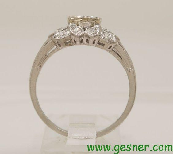 .53ct. Diamond & Platinum Art Deco Engagement Ring - Engagement Rings - Antique/Vintage Jewelry