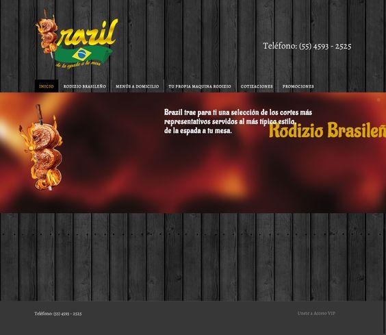 Sitio con diseño responsivo, enfocado a la venta de servicios de eventos con alimentos típicos brasileños.