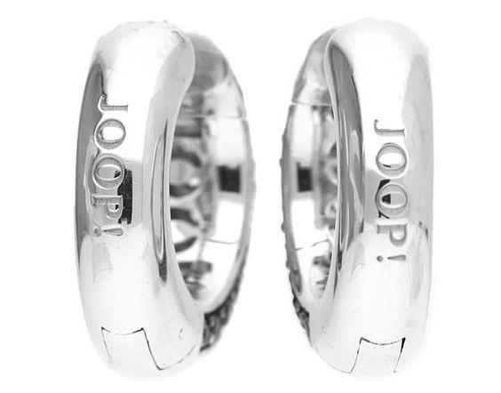 Joop Damen Ohrringe Creole 925 Silber Silber Statement JPCO90147C000