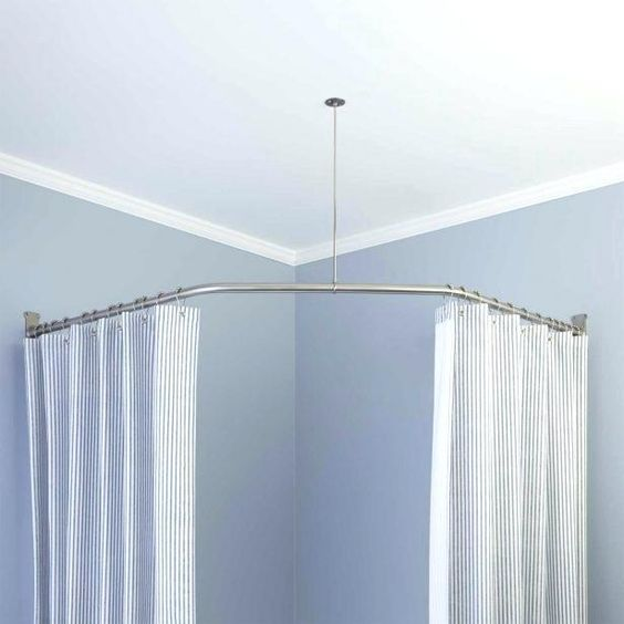 Curved Curtain Rod For Corner Curved Curtain Rod For Corner
