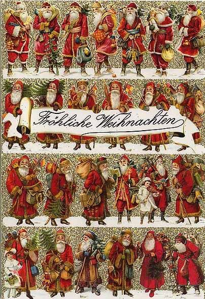 christmas card from germany old fashioned christmas pinterest christmas postcards. Black Bedroom Furniture Sets. Home Design Ideas