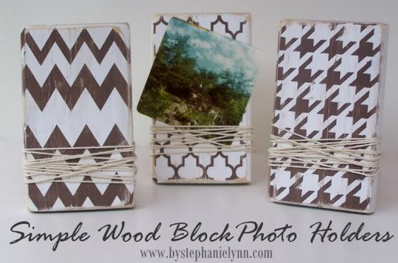 So in love with these wood block frames.... would like to do them on a larger scale for the walls