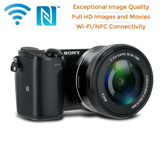 Sony NEX-5TL Compact Mirrorless Camera w/ 16-50mm Power Zoom Lens (Black)