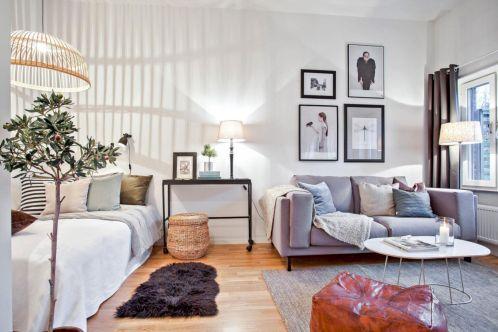 50 Cozy Minimalist Studio Apartment Decor Ideas Small Studio