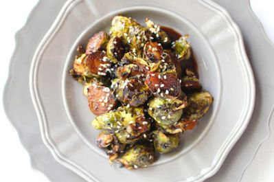 The Fall In: Maple Sesame Miso Brussels Sprouts | LocalSavour