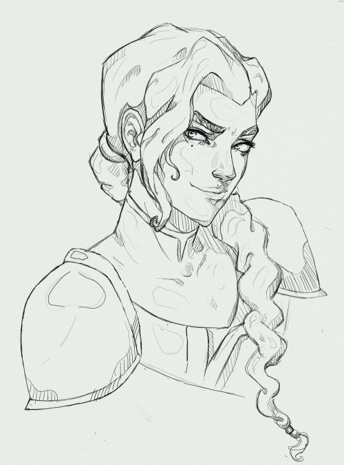 """ymirful: """" its 4am so theres probably something wrong with this but kuvira is coool idk if its a wip or not colours dont usually agree w me ¯\_(ツ)_/¯ """""""