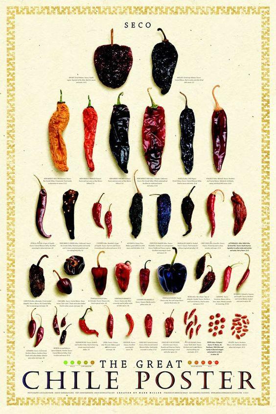 Dried Chile - Chile Secco Poster: