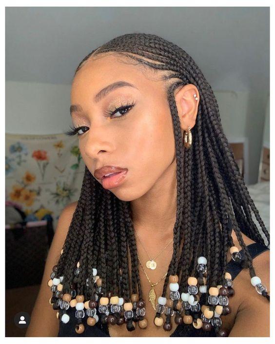 braided hairstyles 2021, Fulani Braids