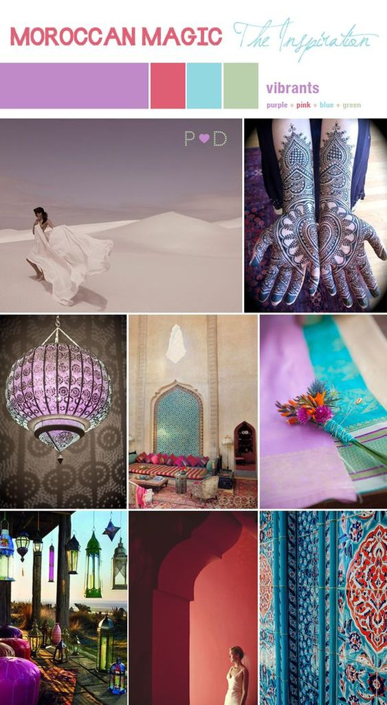 Bridal Inspiration Board #36 ~ Moroccan Magic...: