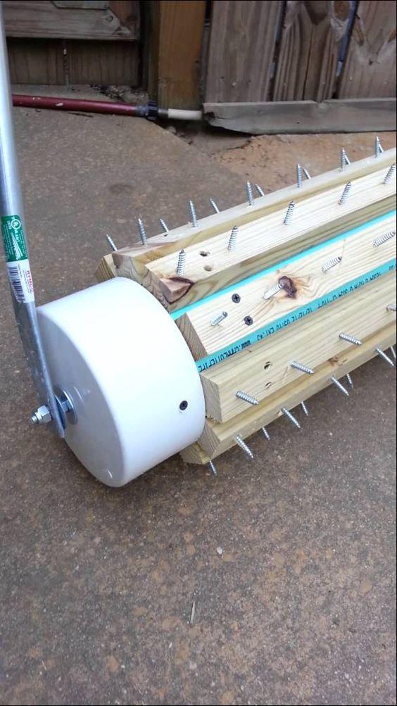 DIY Lawn aerator