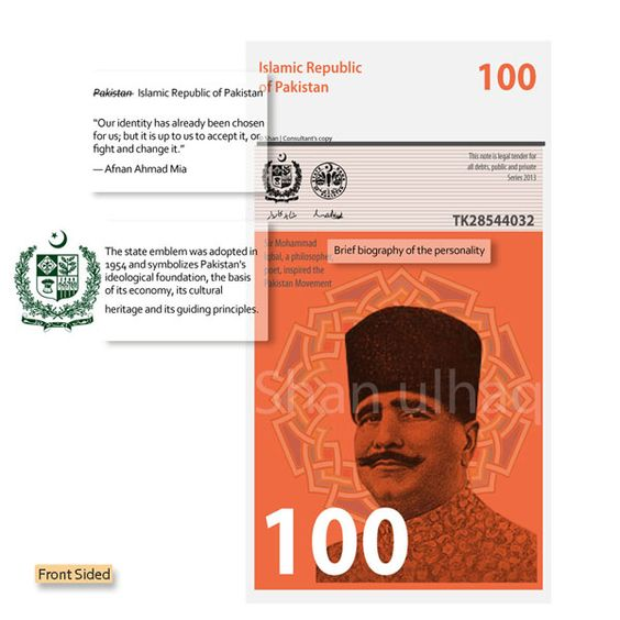 New Currency Design for Pakistan by Shan-UL-Haq