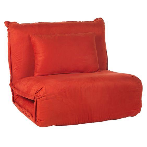 fauteuil convertible rouge rouge dodo les fauteuils fauteuils et poufs canap s et. Black Bedroom Furniture Sets. Home Design Ideas