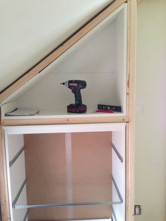 ikea ideas hacks for attic bedroom - IKEA Hack Closet Storage for loft bedroom with sloping