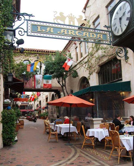 La Arcada shopping area downtown, Santa Barbara, CA
