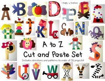 A to Z Uppercase Letter Cut and Paste Set