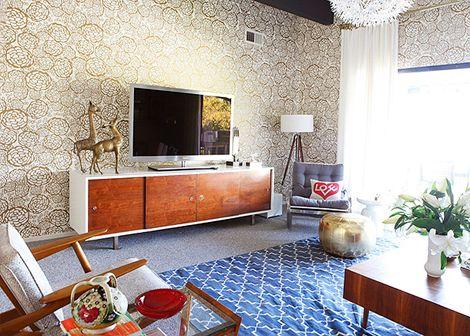 Madeline Weinrib Sky Brooke Cotton Carpet in blogger Oh Joy!'s home on HGTV's Secrets of a Stylist