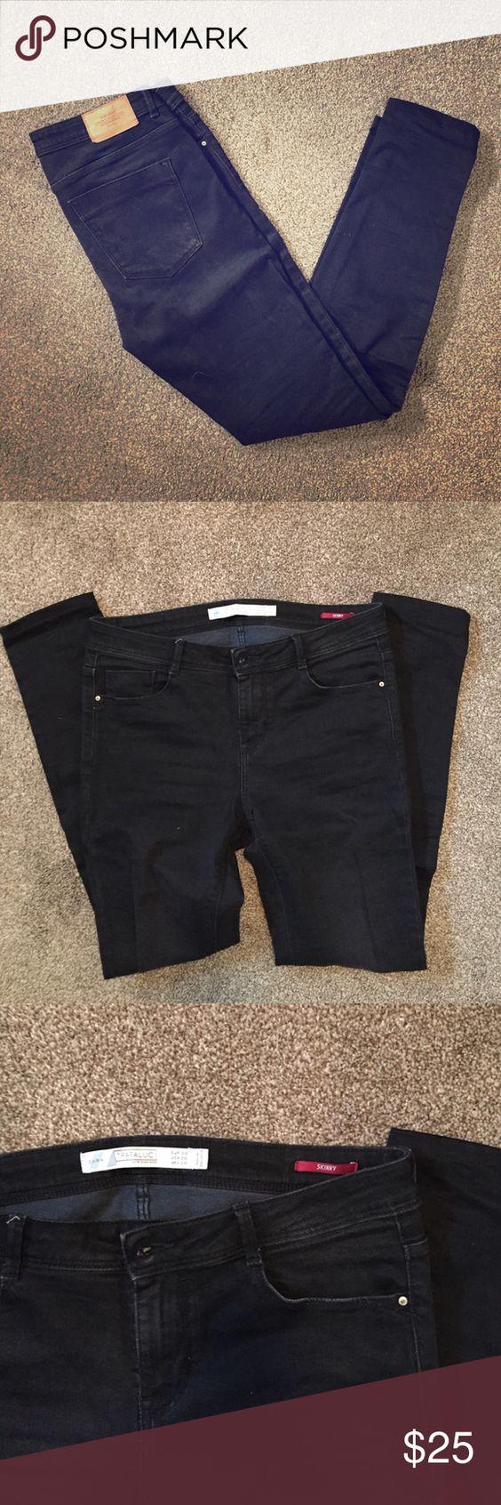 Zara TRF Black Skinny Jeans Size 6