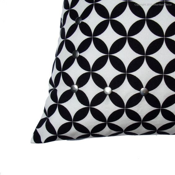 16 pillow cover black & white geometric by jillianrenedecor ...