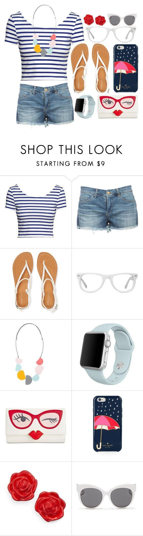 """""""Random Look #1"""" by rosabelle959 ❤ liked on Polyvore featuring H&M, Aéropostale, Muse, Kate Spade and Blanc & Eclare"""