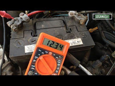 Multimetro Digital Como Medir El Voltaje De La Batería De Un Automóvil Y Verificar Si Carga O No Youtube Eletricidade